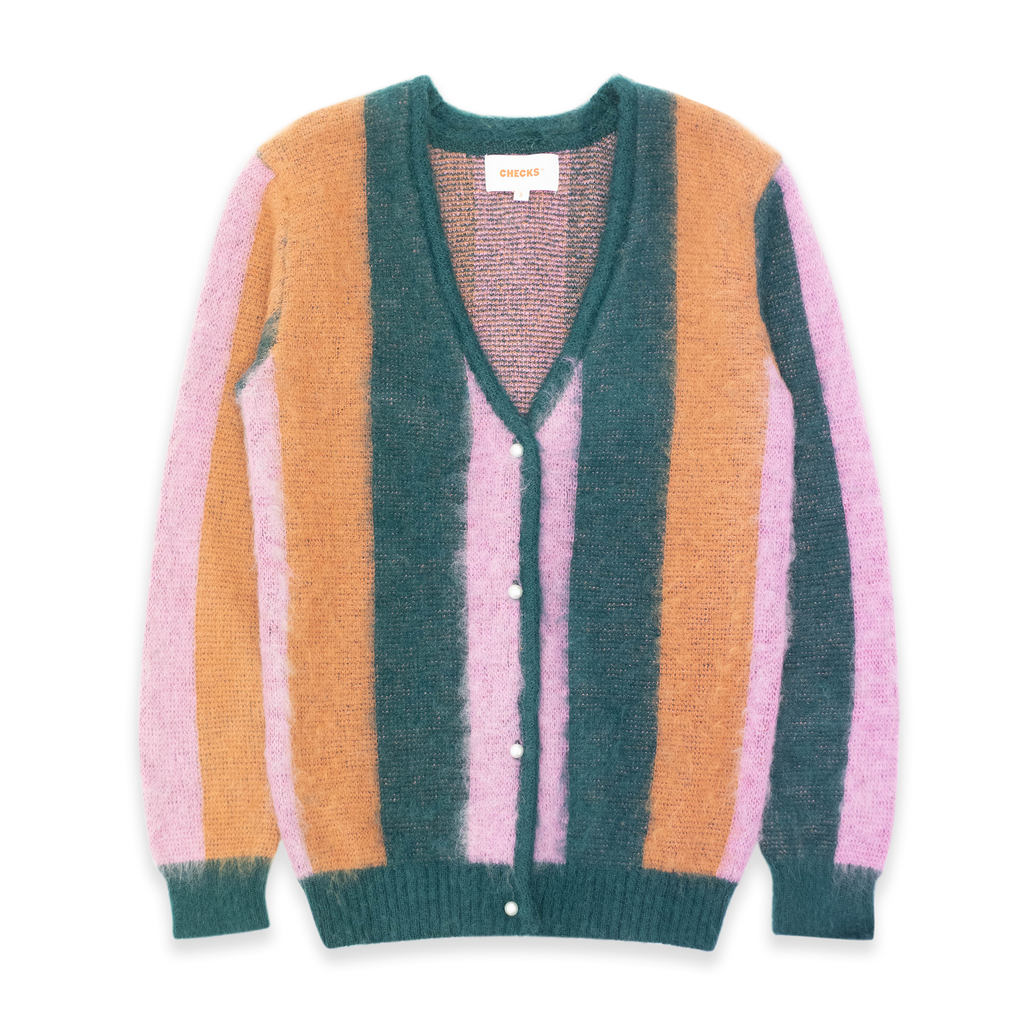 Striped Mohair Cardigan | CHECKS DOWNTOWN