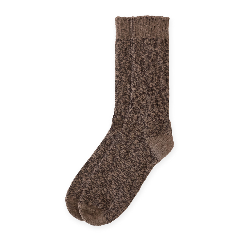 Cotton Ragg Sock Chestnut Solid | CHECKS DOWNTOWN