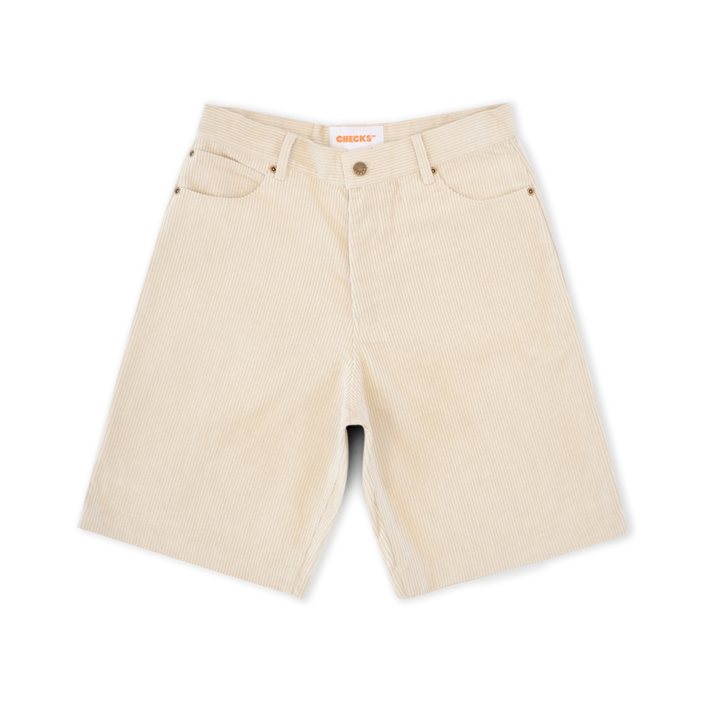 Corduroy Carpenter Shorts Natural | CHECKS DOWNTOWN