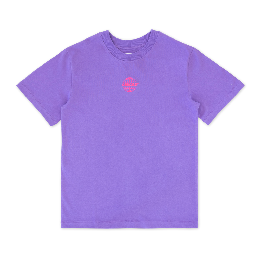 Heavyweight T-shirt Grape | CHECKS DOWNTOWN
