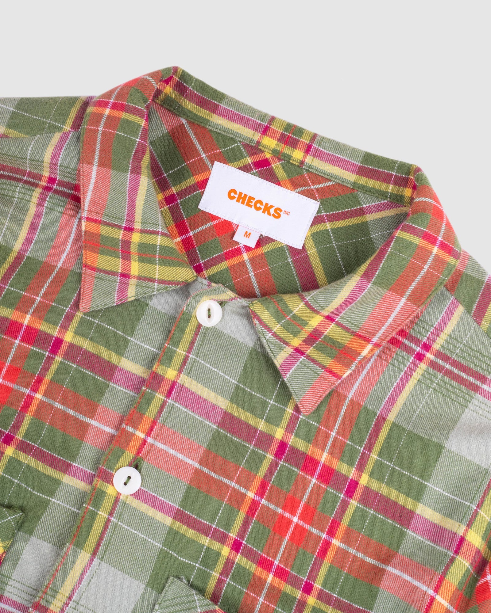 Load image into Gallery viewer, 50s Flannel Shirt Green/Mustard | CHECKS DOWNTOWN