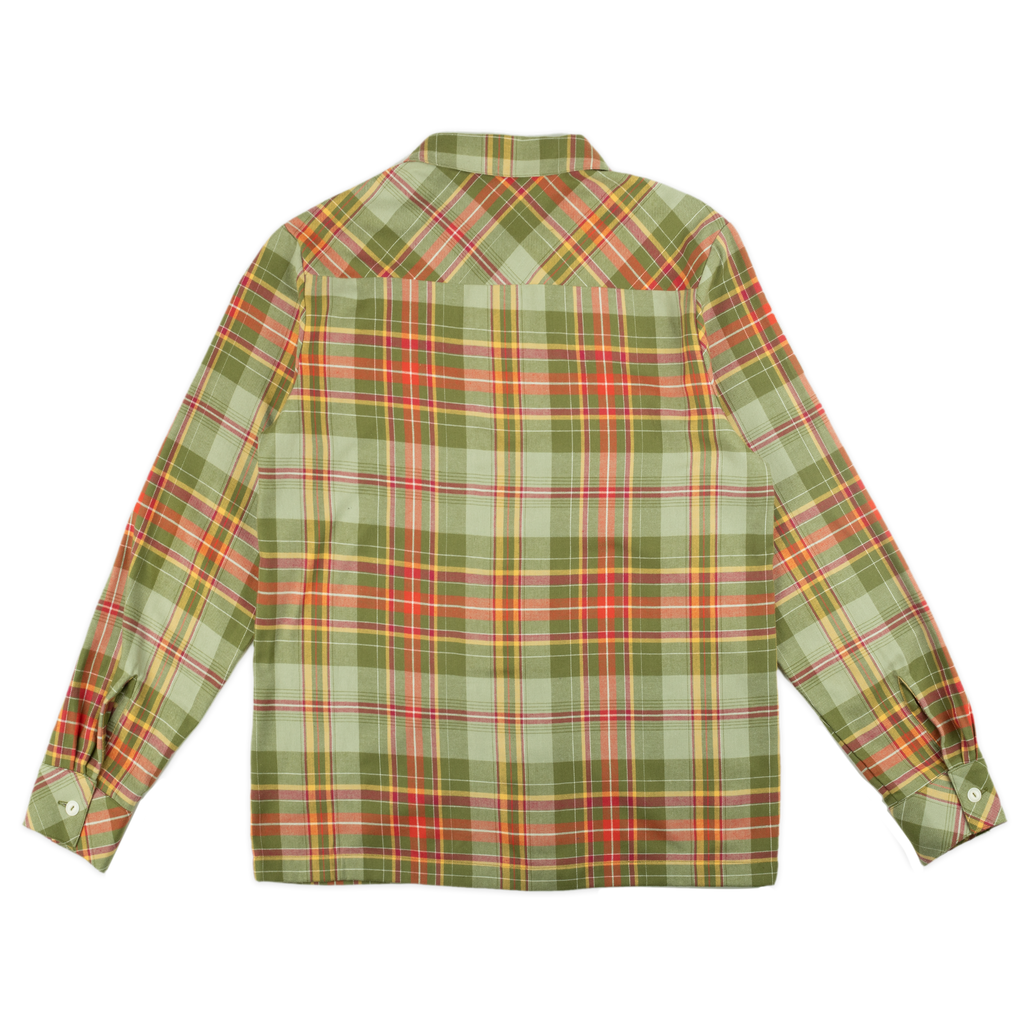 50s Flannel Shirt Green/Mustard | CHECKS DOWNTOWN
