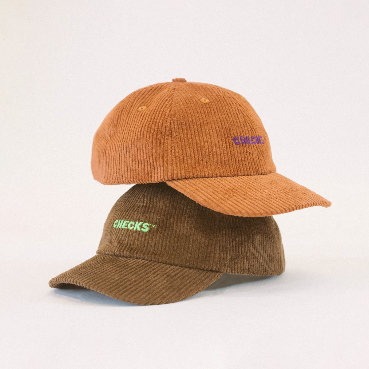 Corduroy Baseball Cap Chocolate | CHECKS DOWNTOWN