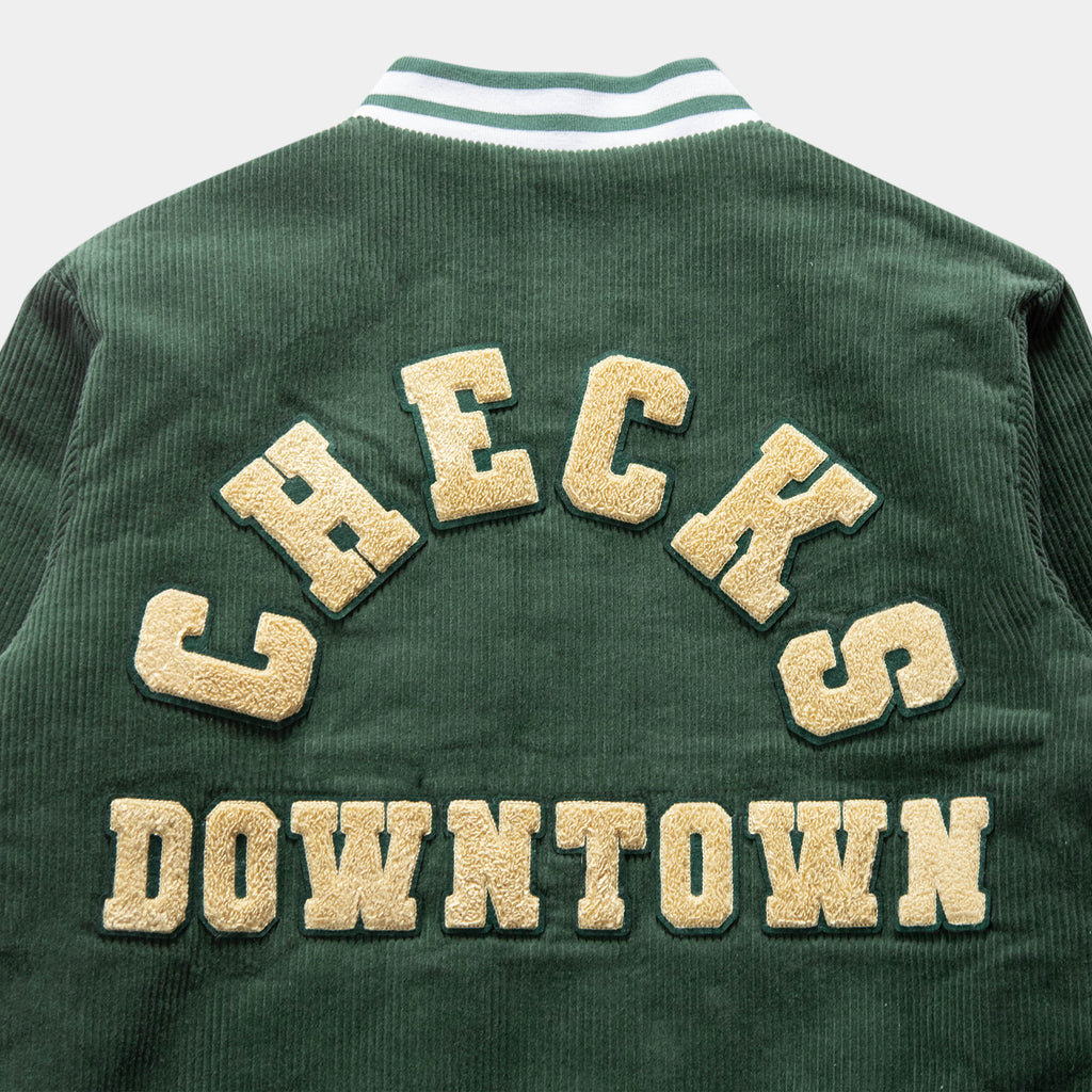 Starters Jacket Green Corduroy | CHECKS DOWNTOWN