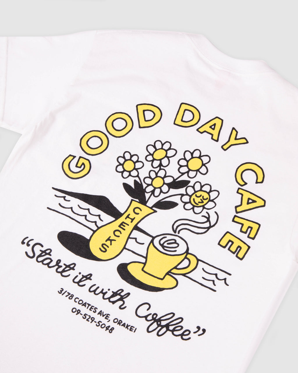 Checks x Good Day T-shirt White | CHECKS DOWNTOWN