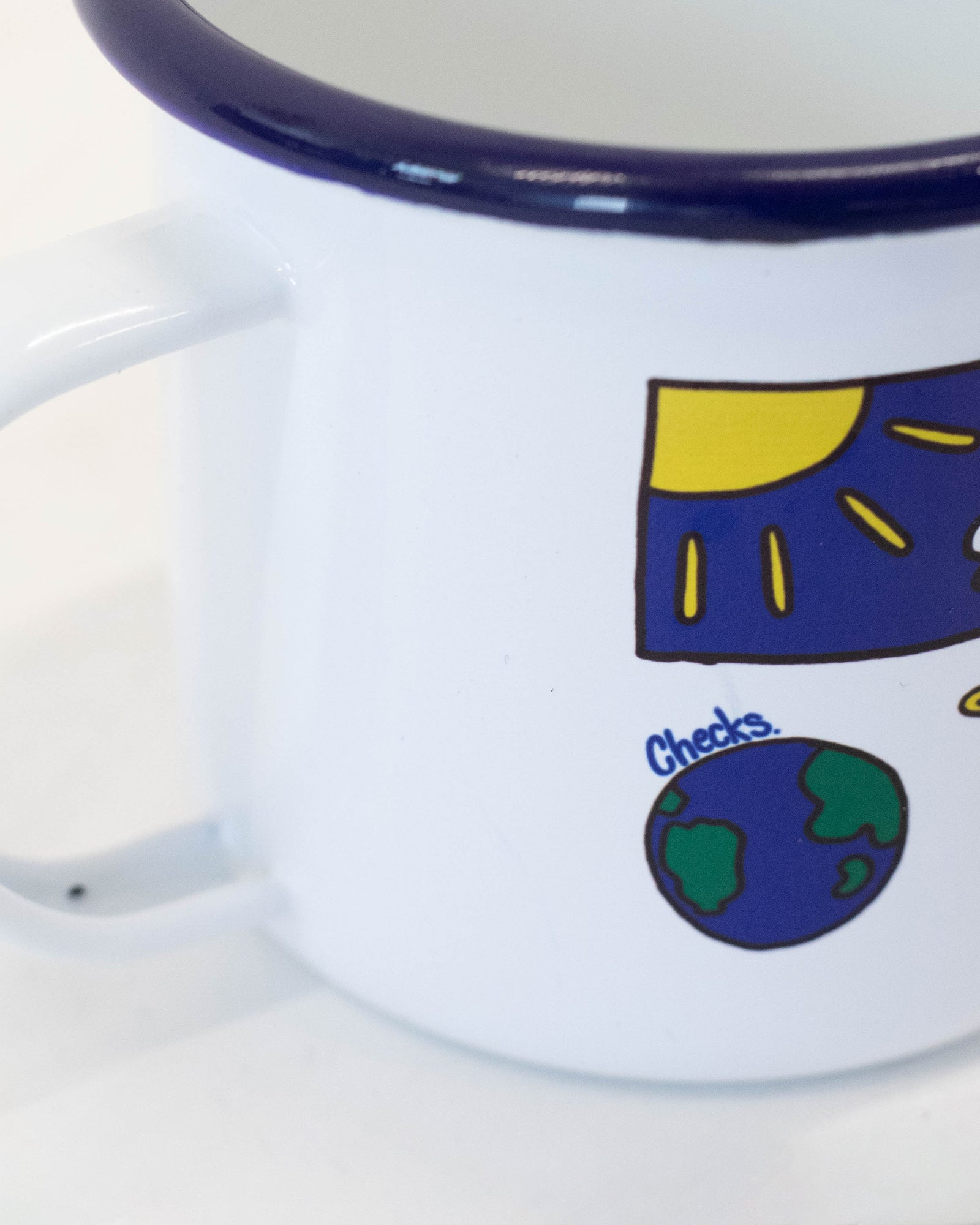 Load image into Gallery viewer, Enamel Camp Mug | CHECKS DOWNTOWN