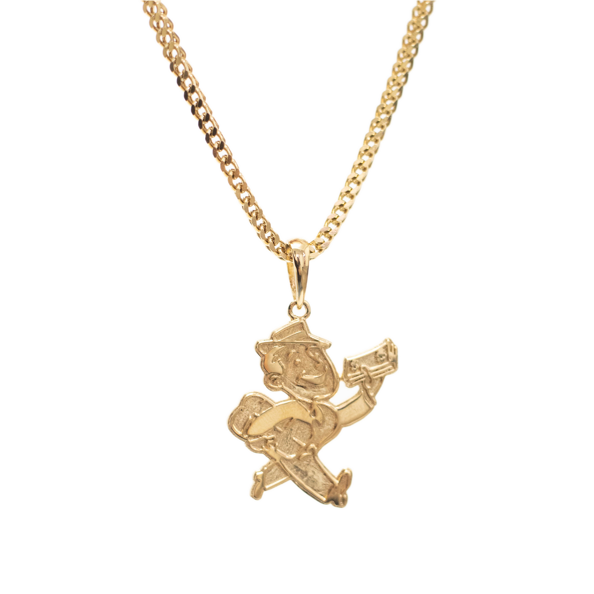 Load image into Gallery viewer, Moneyman Pendant Gold | CHECKS DOWNTOWN