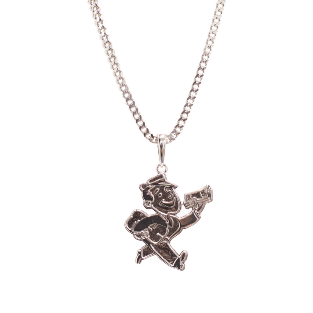 Moneyman Pendant Silver | CHECKS DOWNTOWN