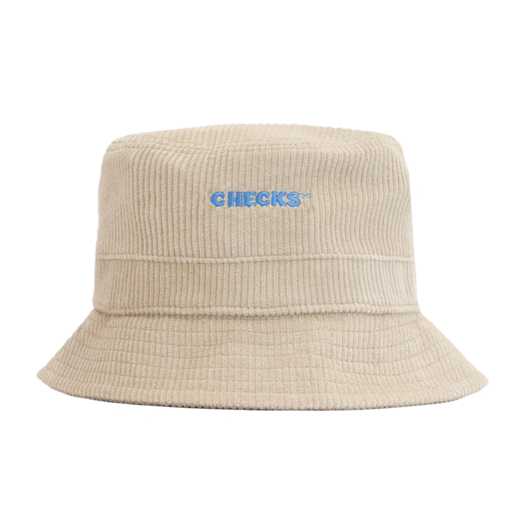 Cord Bucket Hat Natural | CHECKS DOWNTOWN