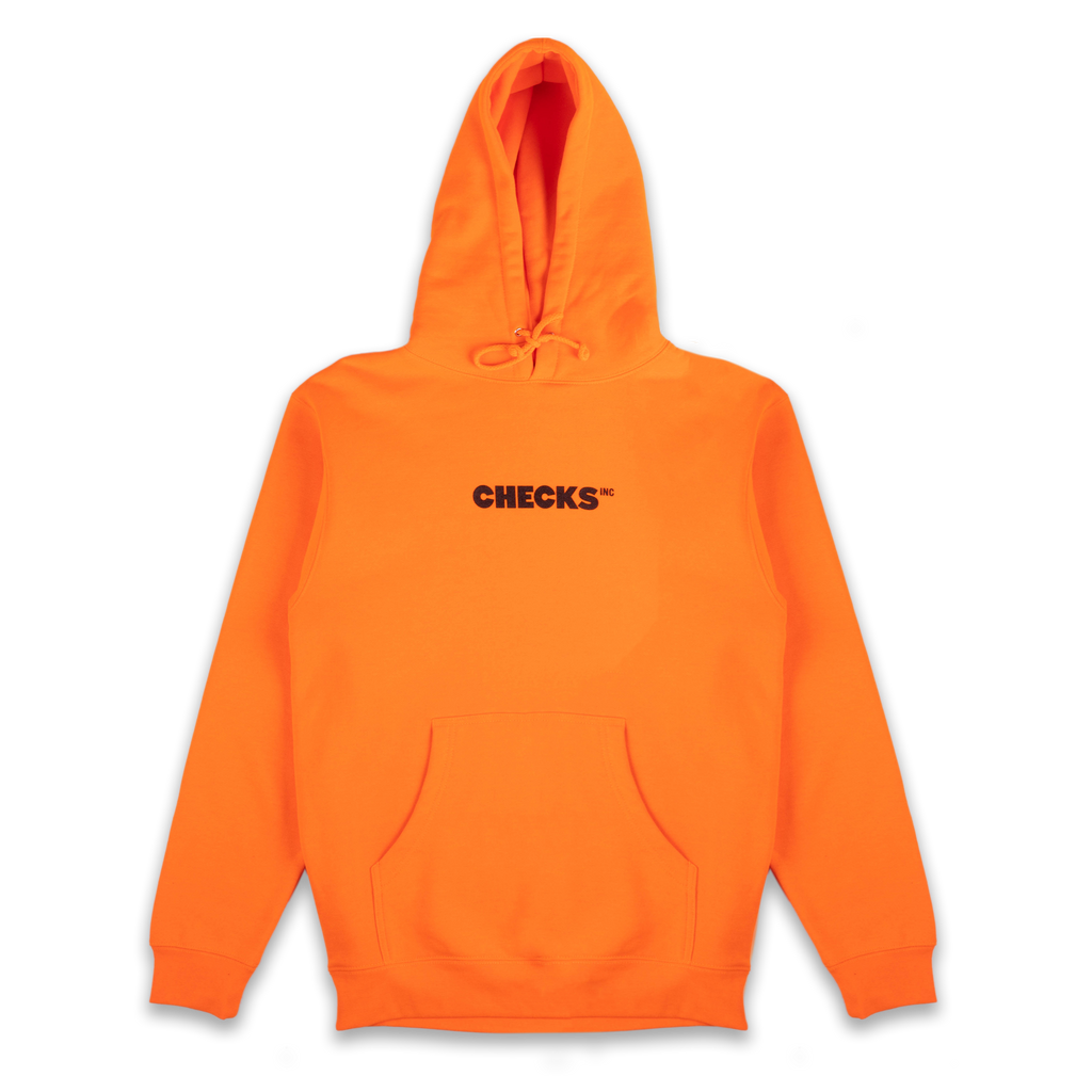 Classic Hoodie Orange | CHECKS DOWNTOWN