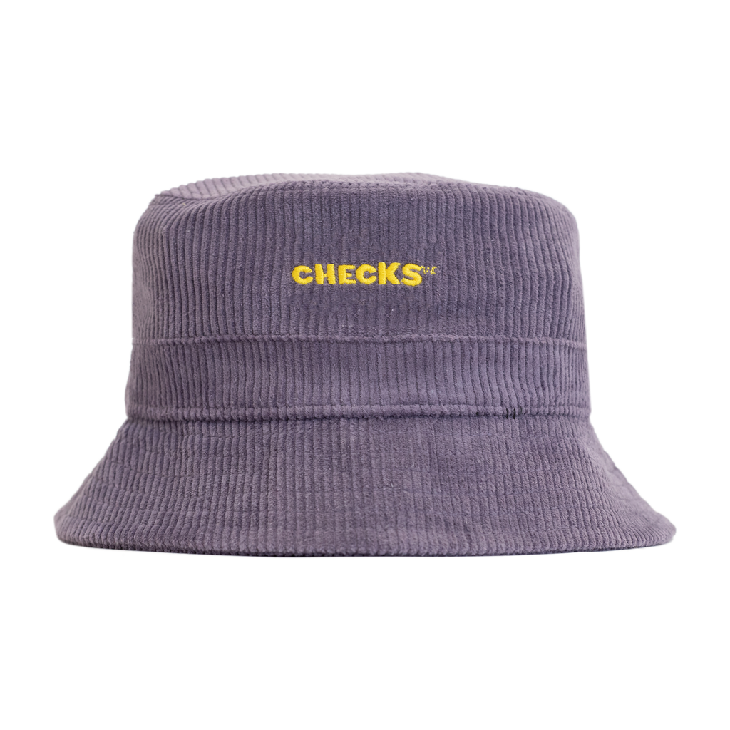Cord Bucket Hat Mulberry | CHECKS DOWNTOWN