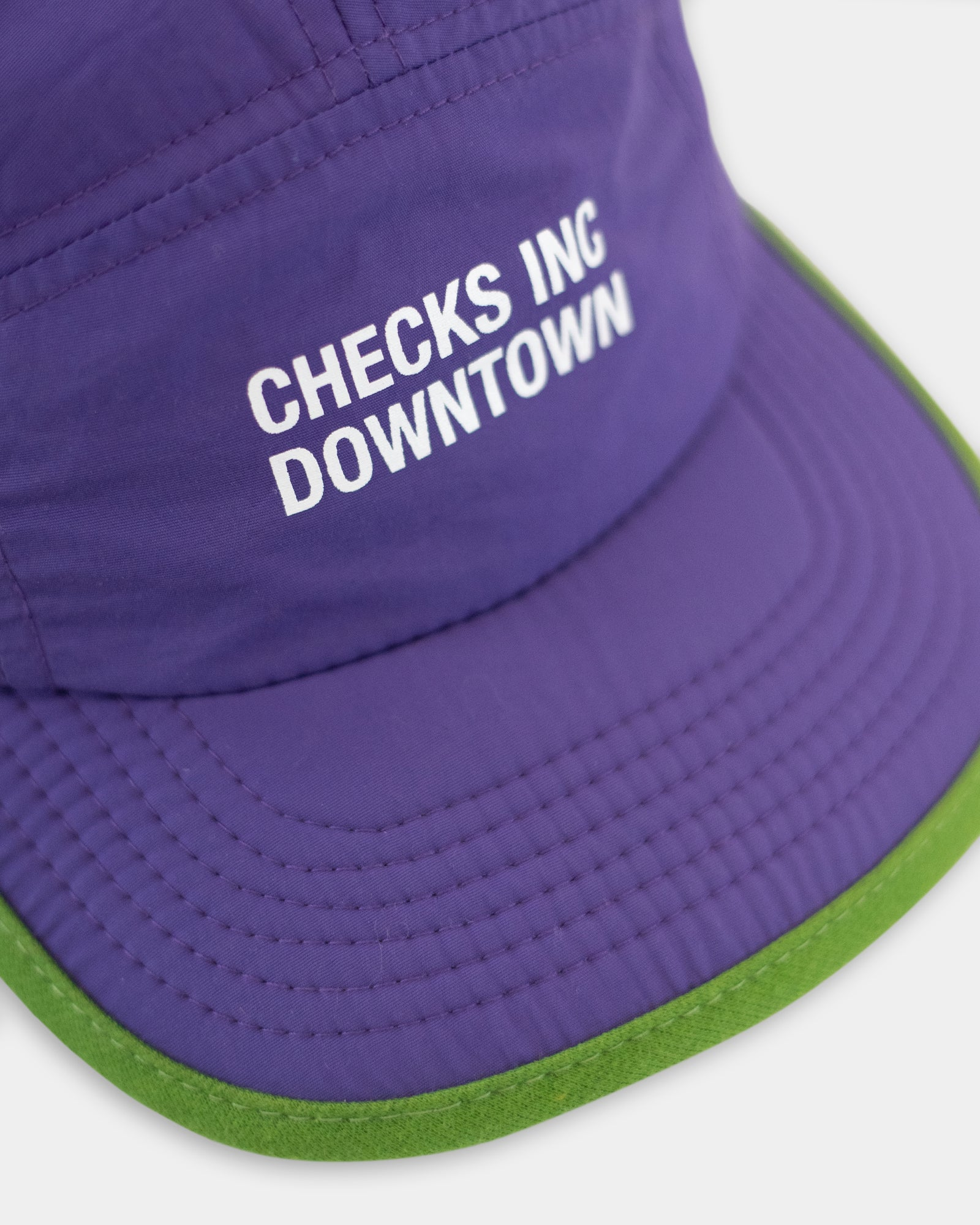 Load image into Gallery viewer, Nylon Running Cap Purple | CHECKS DOWNTOWN