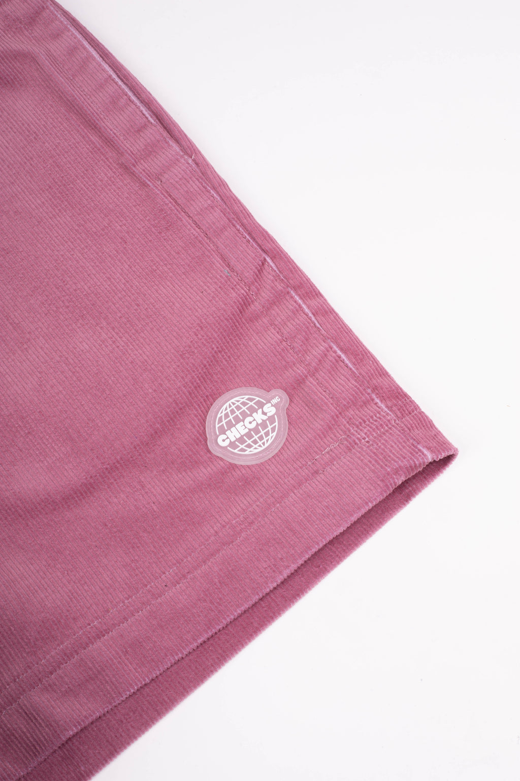 Corduroy Rugby Shorts Raspberry | CHECKS DOWNTOWN