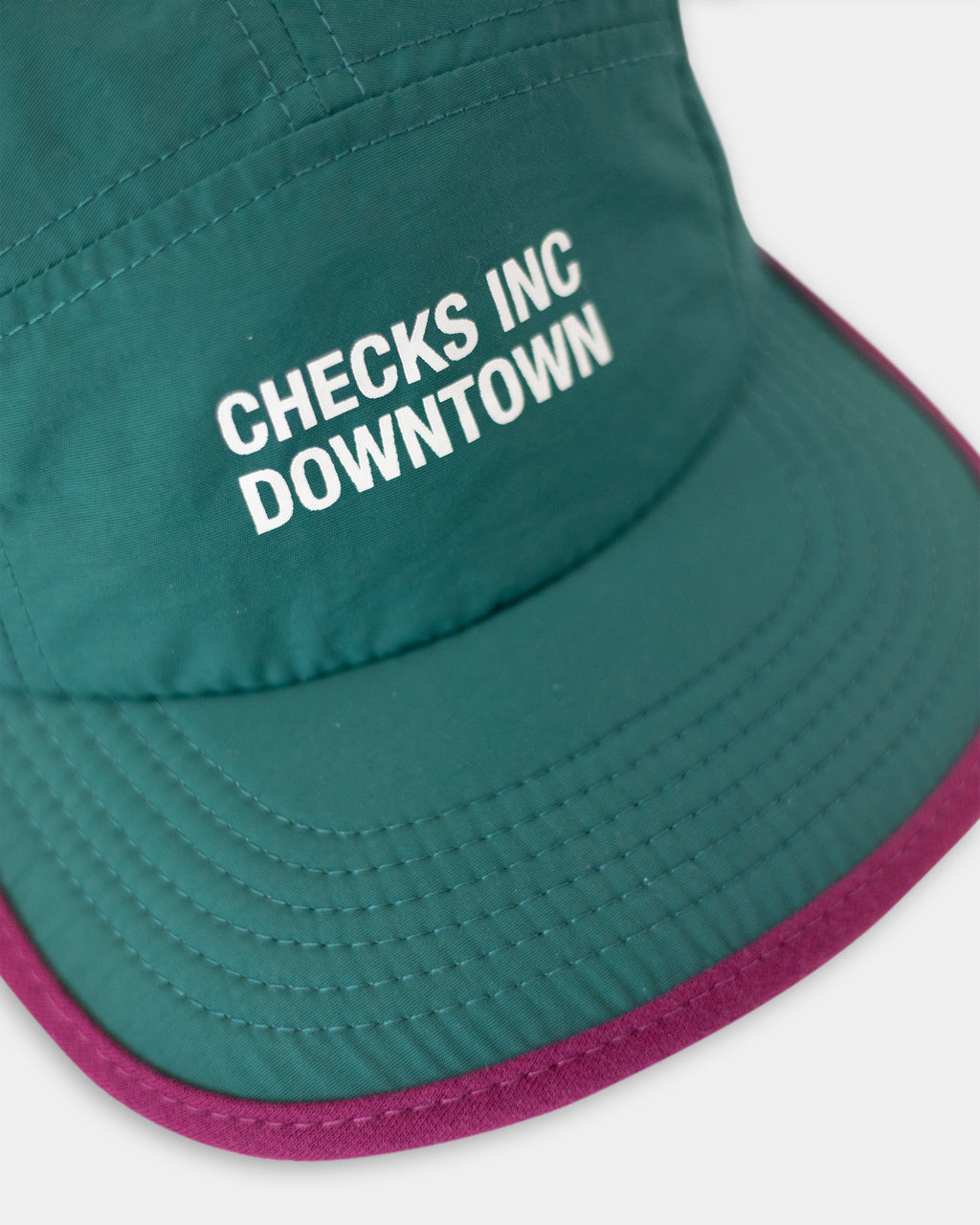 Nylon Running Cap Teal | CHECKS DOWNTOWN