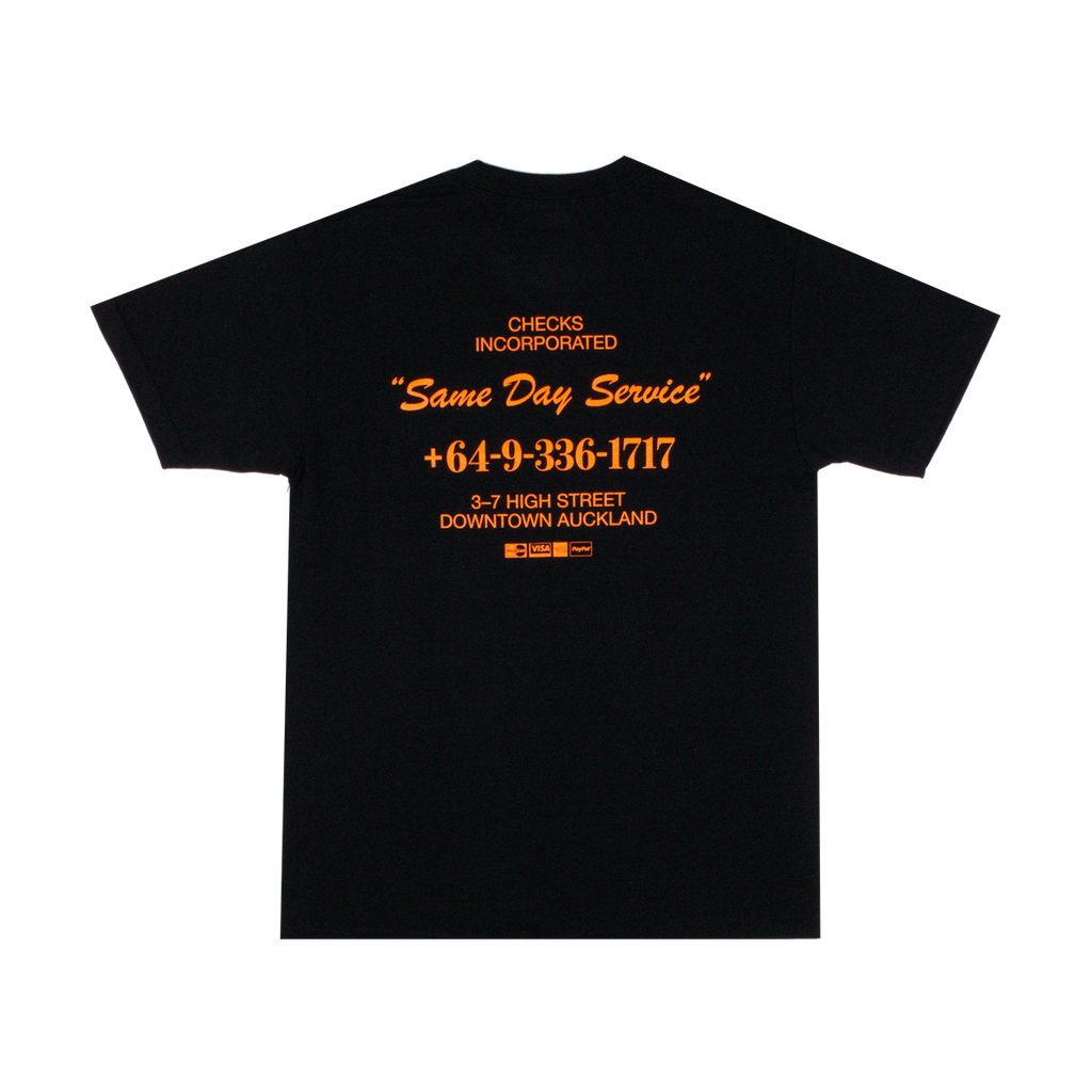Same Day T-shirt Black | CHECKS DOWNTOWN