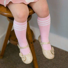 Clearance - Eva & Elvin Peppy Non-Skid Knee Socks In Pink - Footwear