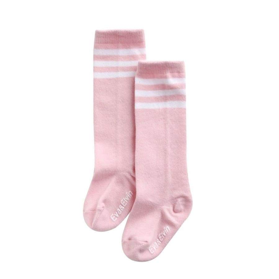Clearance - Eva & Elvin Peppy Non-Skid Knee Socks In Pink - Xs (0-24M) - Footwear