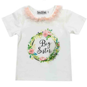 Clearance - Sweet As Sugar Couture Big Sister Peach Shirt - 3T - Top