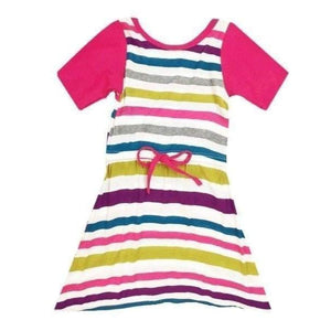 Clearance - Sweet As Sugar Couture Bright Striped Sadie Dress - 2T - Dress