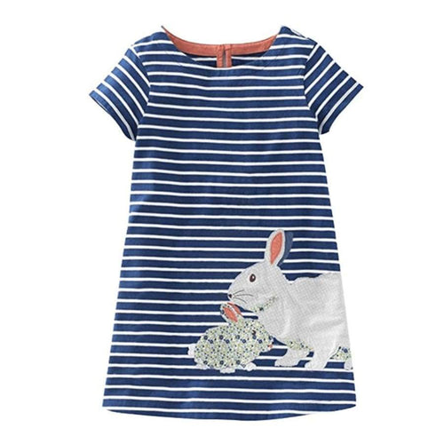 Clearance - Sweet As Sugar Couture Cuddle Bunnies Dress - 4T - Dress