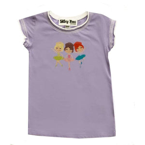 Clearance - Sweet As Sugar Couture Purple Ballerina Shirt - 6M - Top