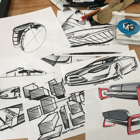 A collection of design sketches