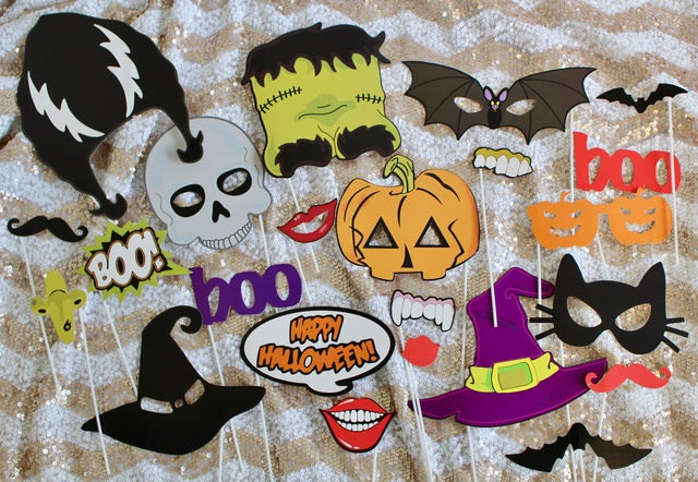 Halloween Photo Booth Props Free
