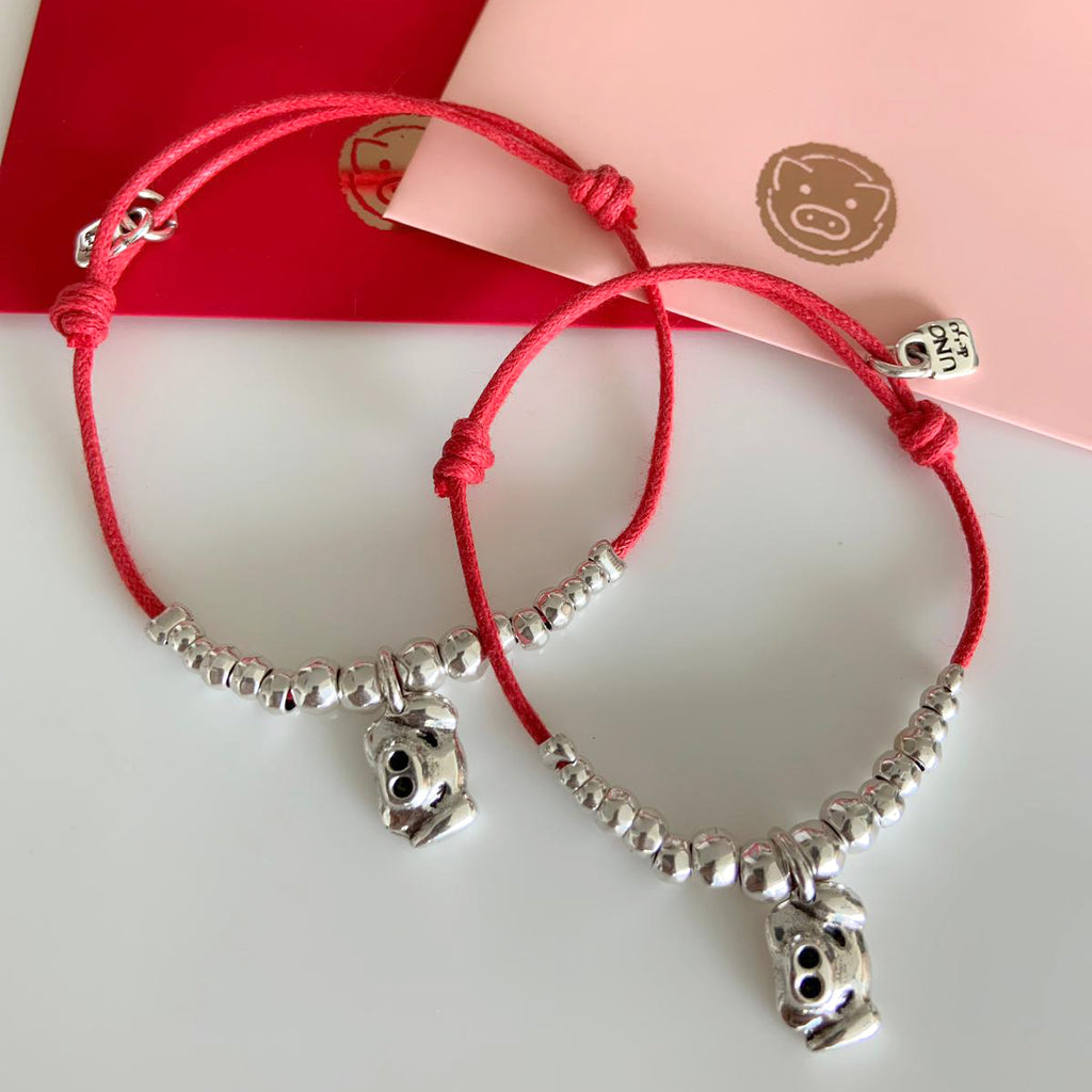 Unode50 year of the pig bracelet