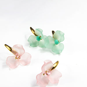 Three Petal Flower Earrings