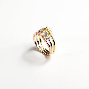 Three Coloured Sparkle Ring