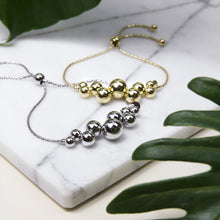 contemporary ball design toggle chain bracelet