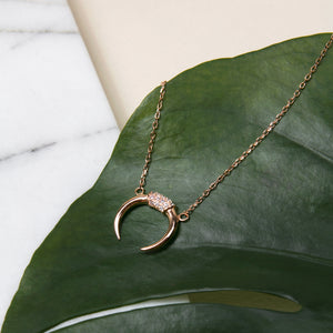 Bling Crescent Necklace