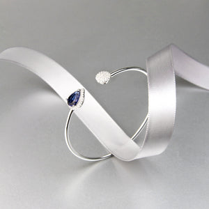 teardrop Swarovski crystal adjustable bangle