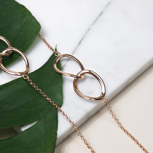 Double Link Long Necklace