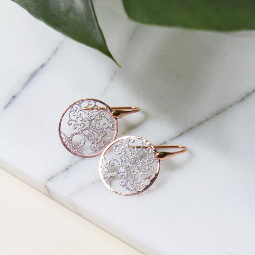 Duo Tone Tree of Life Earrings