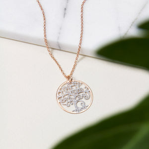 Duo Tone Tree of Life Necklace