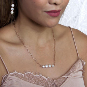 Freshwater Pearl Bar Necklace