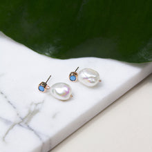 Freshwater Pearl Drop Earrings with Swarovski