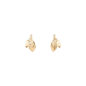 leaf earring cute dainty elegant gold