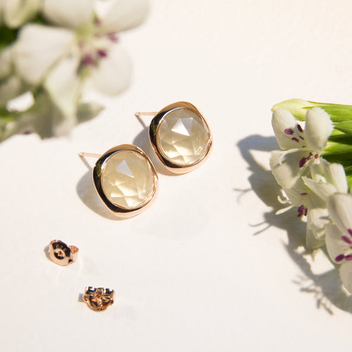 Gemstone Square Studs