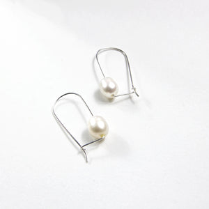 Long Loop Pearl Earrings