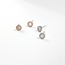 Mini Mother of Pearl Round Studs