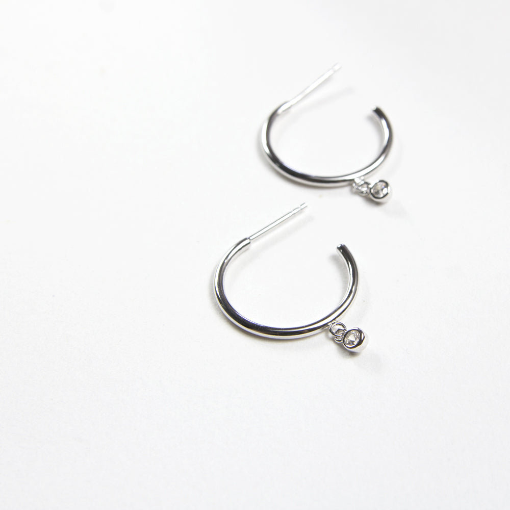 Crystal Medium Hoops