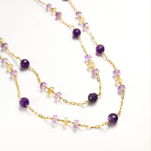 Amethyst and Ametrine Long Necklace