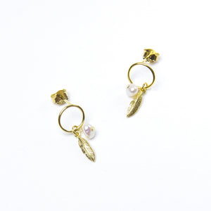 Angel Baby Hoop Earrings