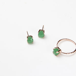 Green Aventurine Cushion Studs