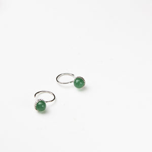 Green Aventurine Ball Earrings