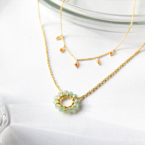 Aventurine Circle Necklace