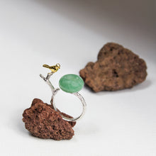 Aventurine Bird Ring