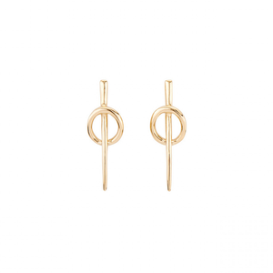 Gold modern minimalistic earrings